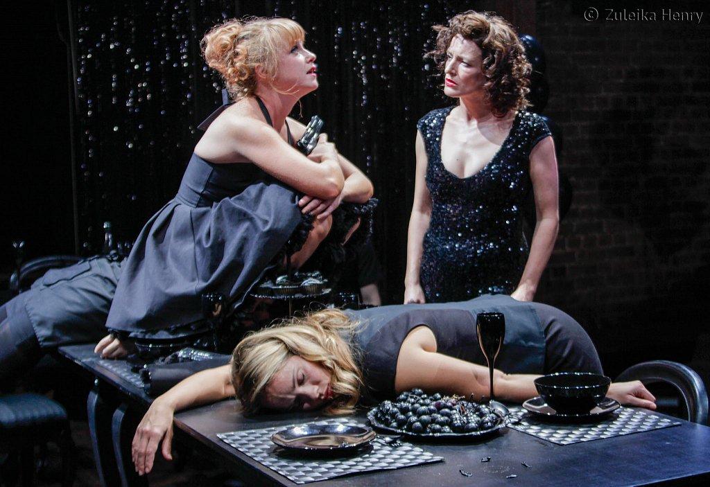 Sarah Ridgeway as Sophie and Katy Stephens as Sarah (with Ellie