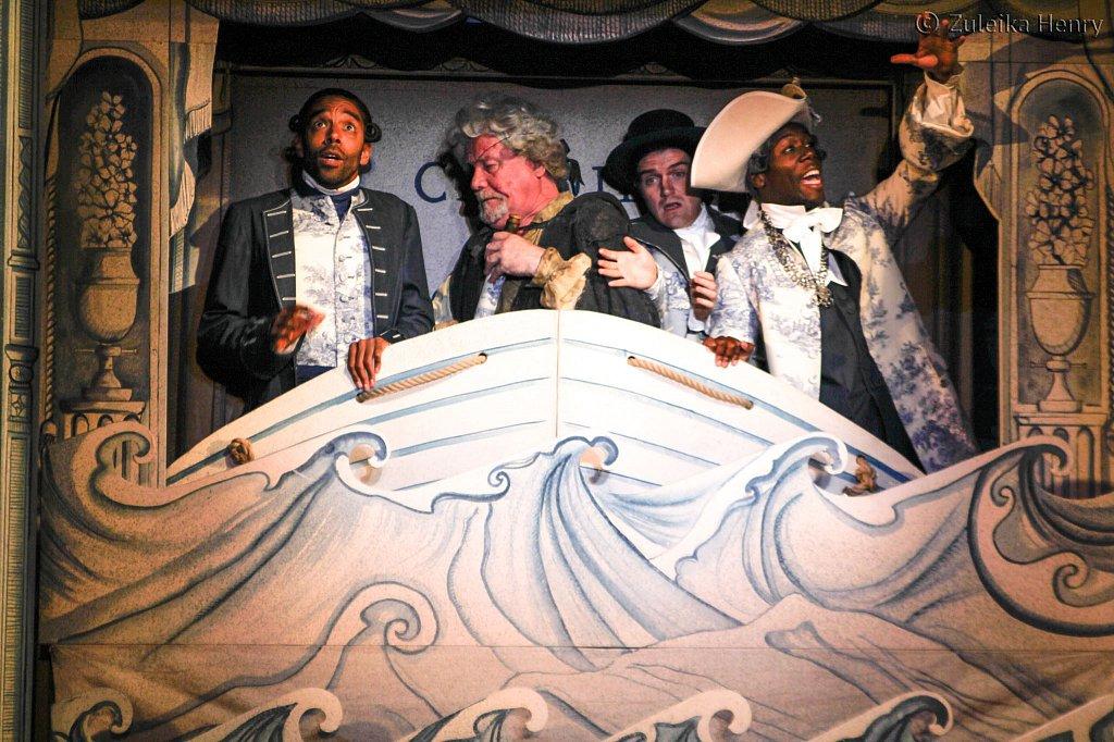 Ian Redford as PanglossKevin Harvey as Jacques, Ciaran Owens, Sa