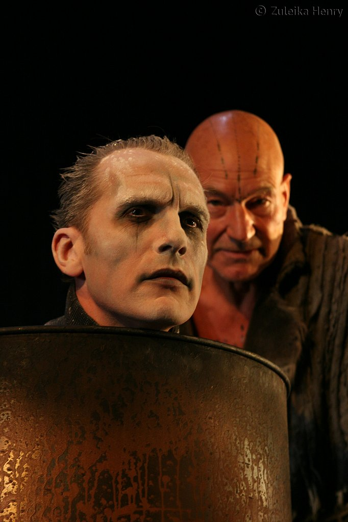 Julian Bleach as Ariel and Patrick Stewart as Prospero