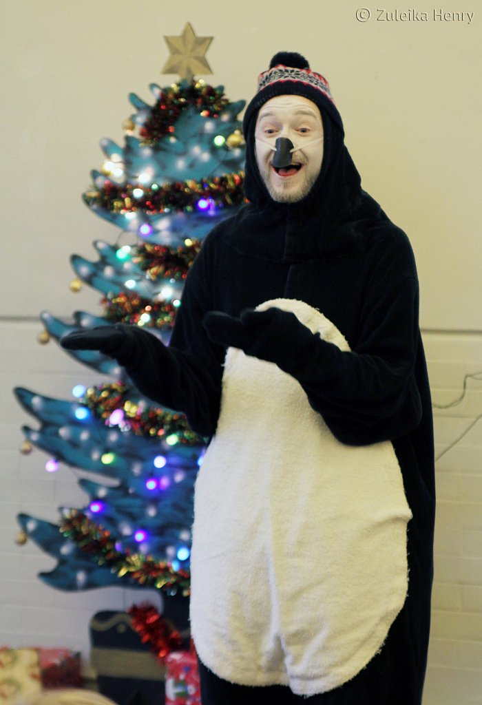 Gerard Cooke in Nobody Panic I'm a Christmas Present by Myfanwy Millward