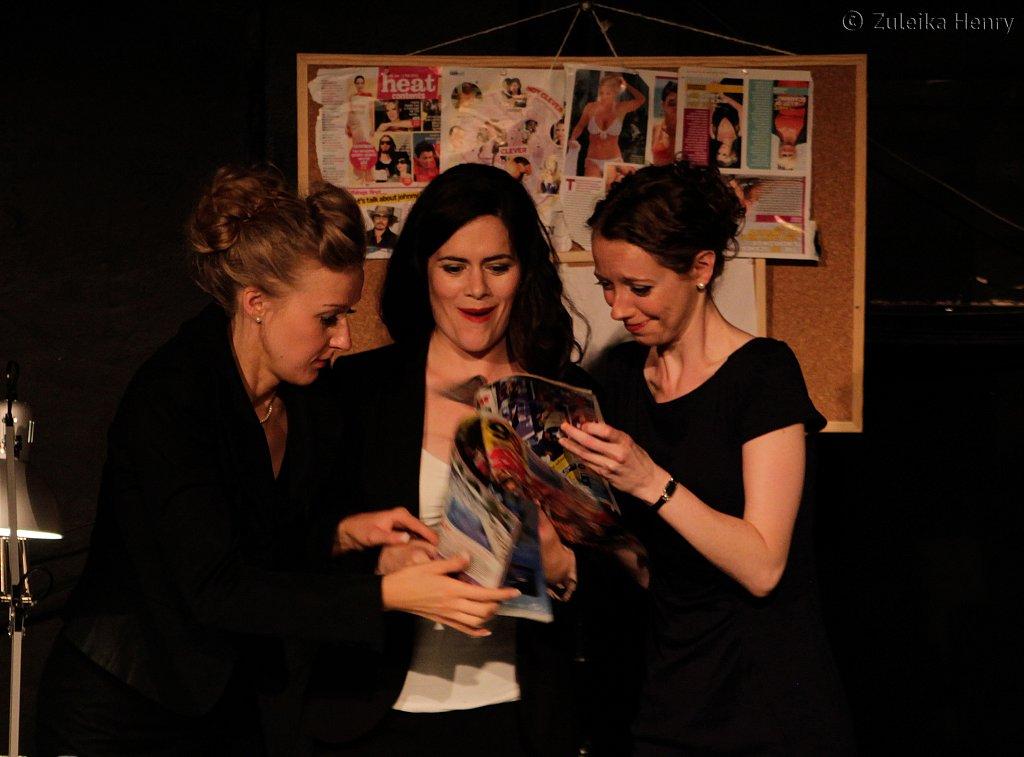 Sarah Minns, Norah King and Cathy Bell