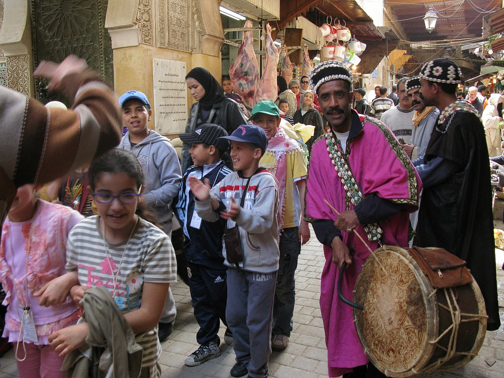 Children and musicians
