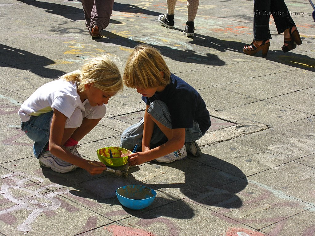 Painting the pavement