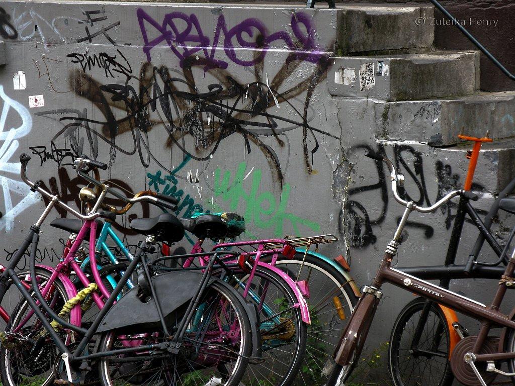 Graffiti and bicycles