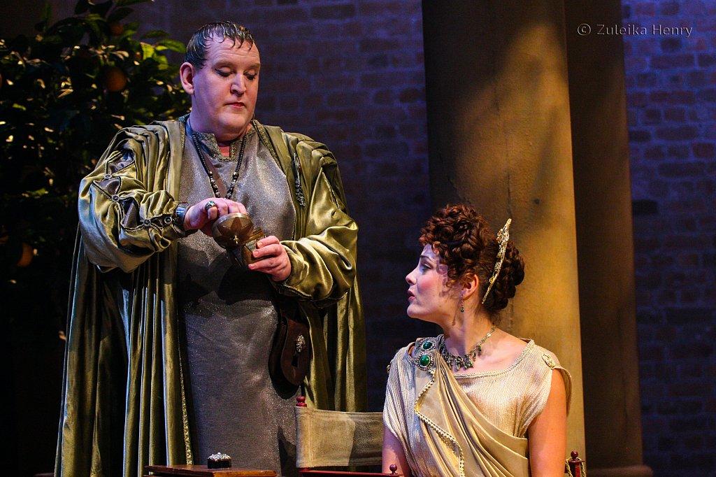 Nigel Betts as Eudemus and Miranda Colchester as Livia