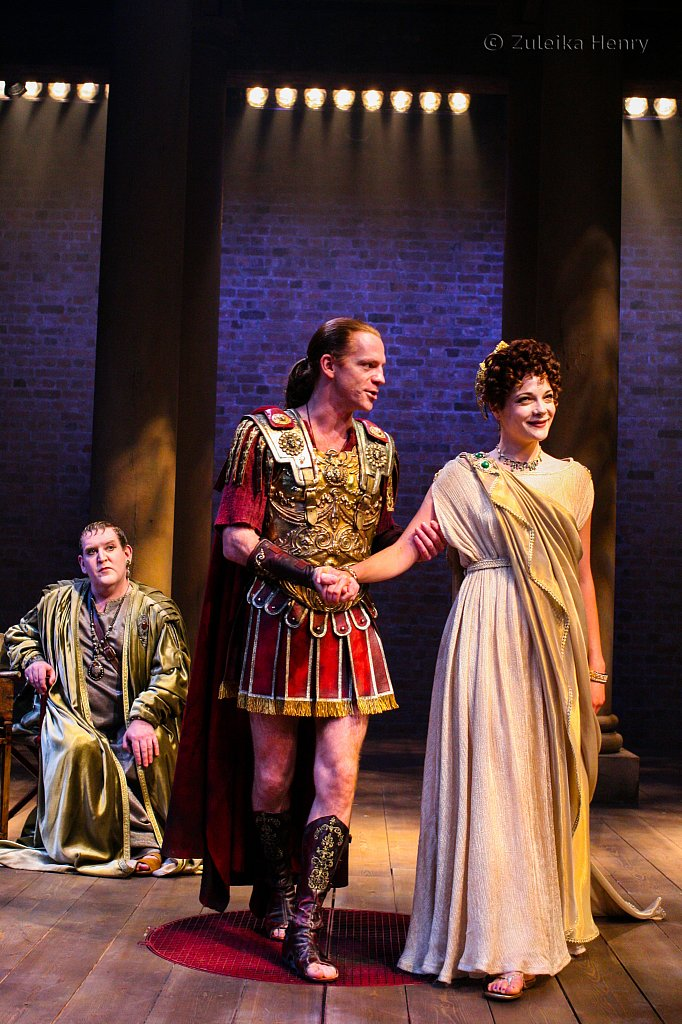 Miranda Colchester as Livia William Houston as Sejanus and Nigel Betts as Eudemus
