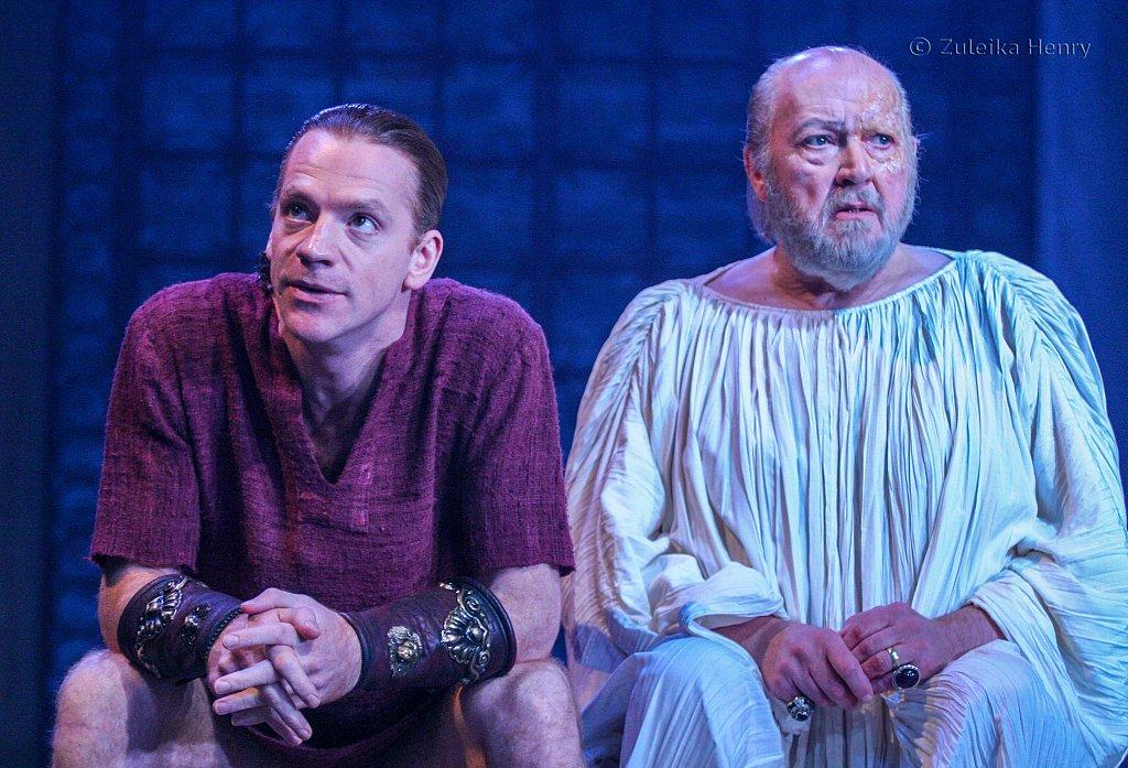 William Houston as Sejanus and Barry Stanton as Tiberius