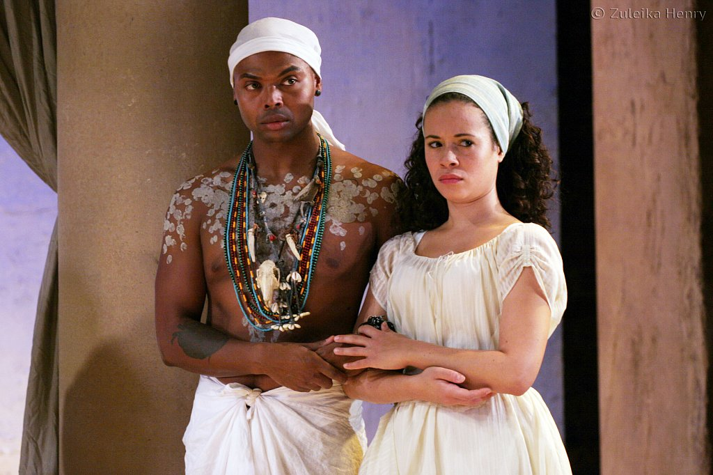 Chivas Michael as Mardian and Charise Castro Smith as Iras