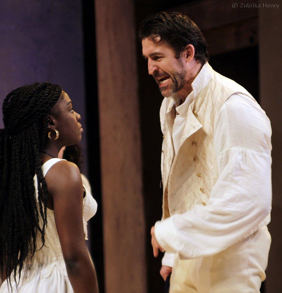 Jonathan Cake as Antony and Joaquina Kalukango as Cleopatra