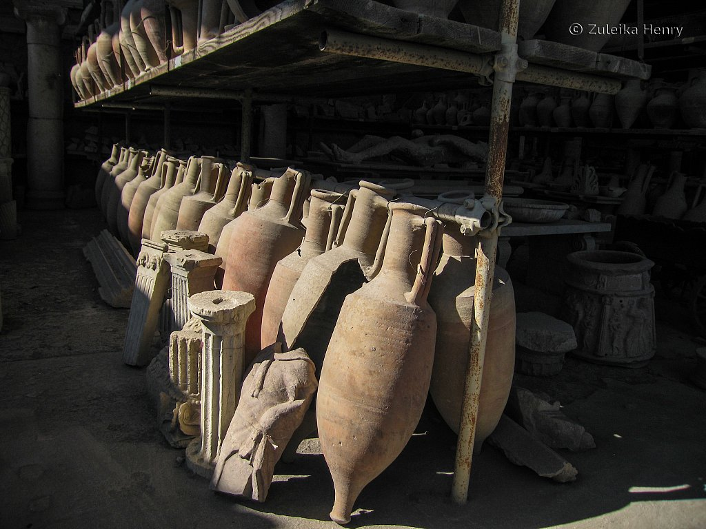 A collection of urns