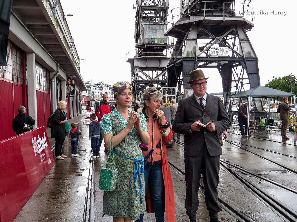 Heritage weekend at Bristol Docks Oct 4/5 2014  with Angie Belcher Sheila Hannon and Will Bateman