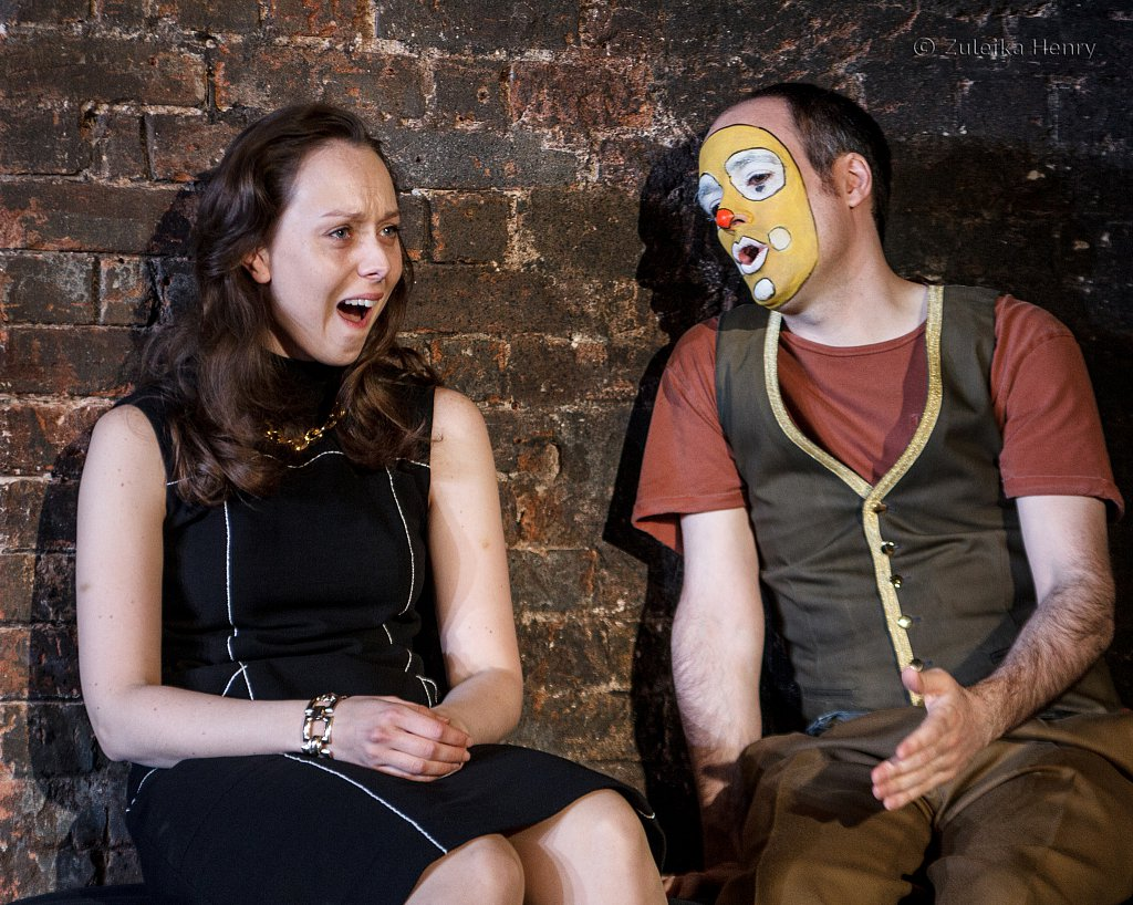 Scarlett Brookes as Jessica and Tim Samuels as Lancelot Gobbo