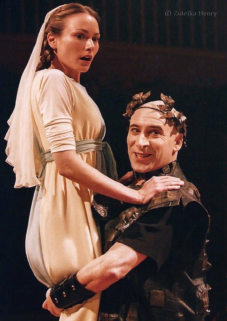 Anna Madelyy as Dominita and Antony Sher as Dominian Caesar
