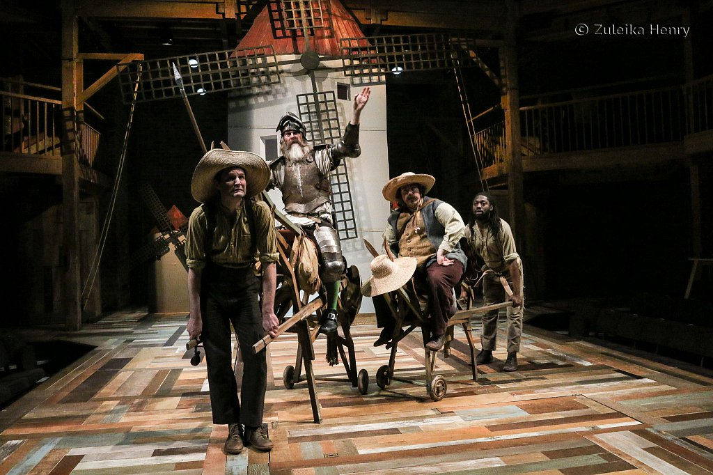 David Threlfall as Don Quixote, Rufus Hound as Sancho Panza Natey Jones as Donkey and Theo Fraser Steele as Horse Rosinante