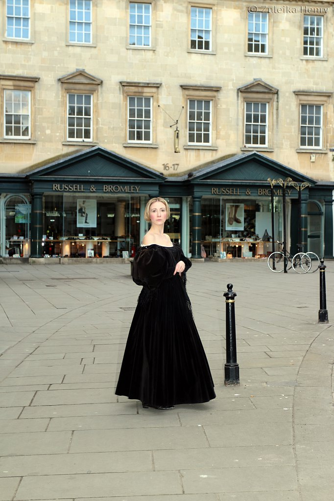 Launch party for Frankenstein in Bath with Annette Chown as Mary Shelley