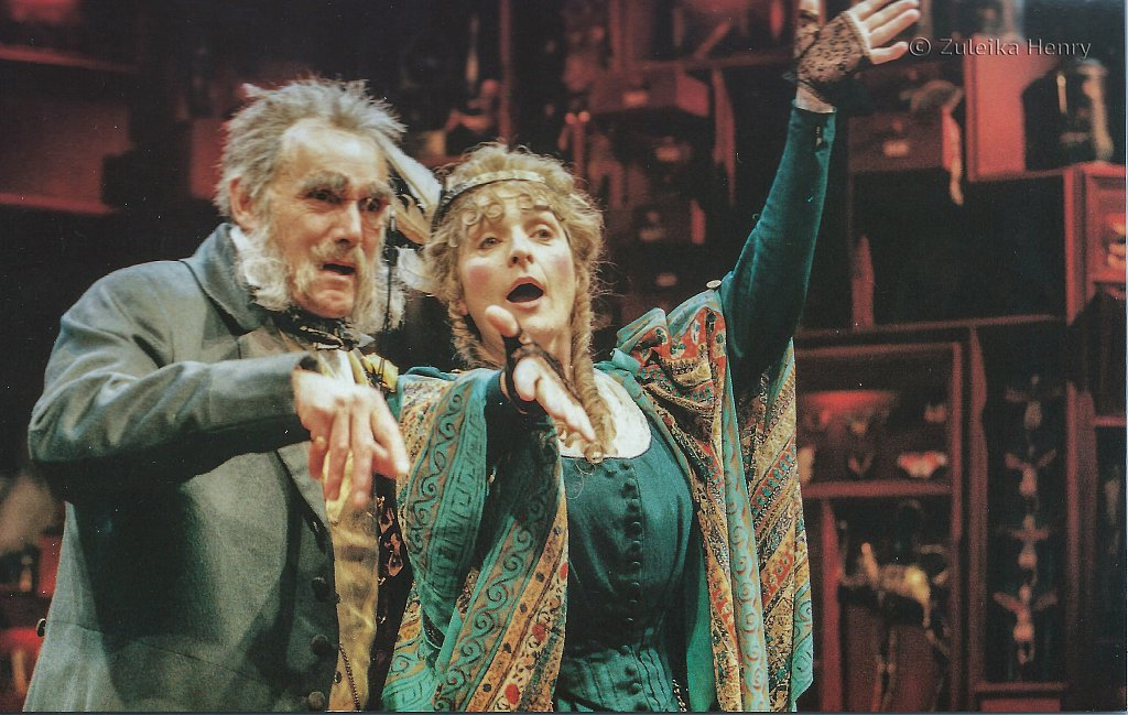 Clive Francis and Alison Fiske in 'Three Hours After Marriage' 1996