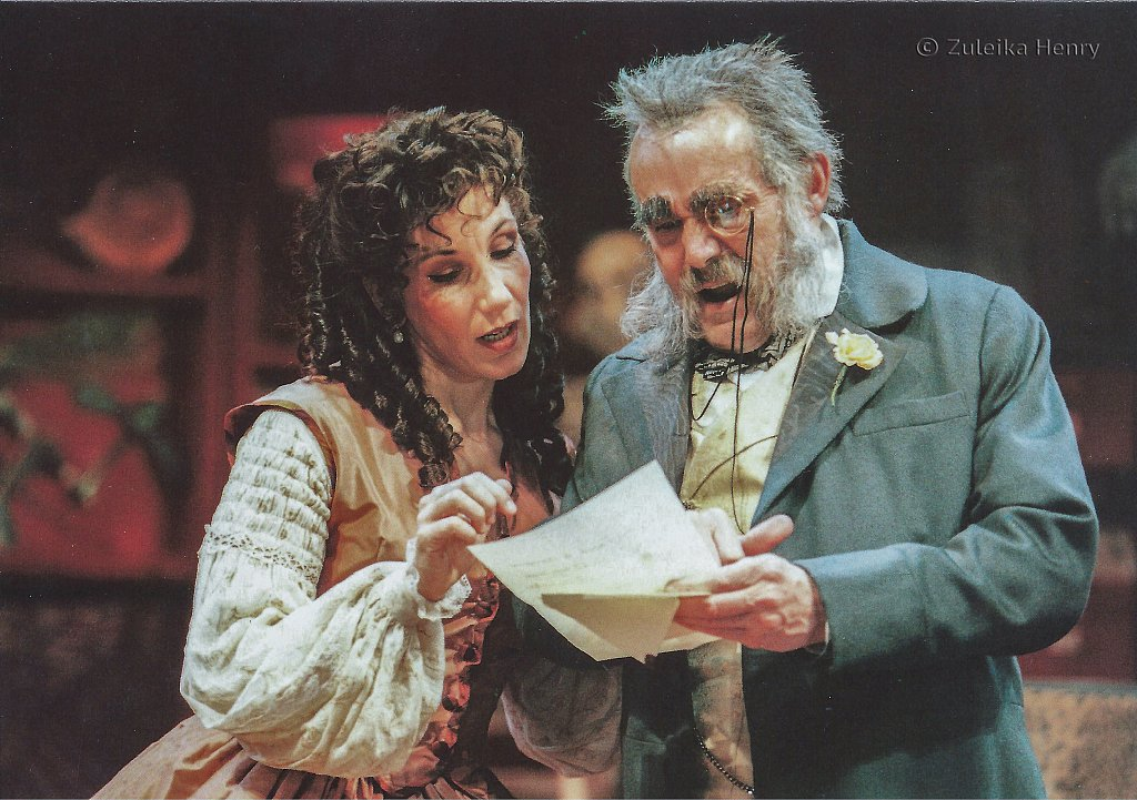 Jane Gurnett and Clive Francis in 'Three Hours After Marriage' 1996