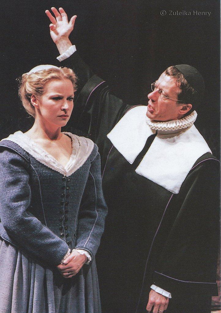 Teresa Banham and Stephen Boxer in The Herbal Bed 1996