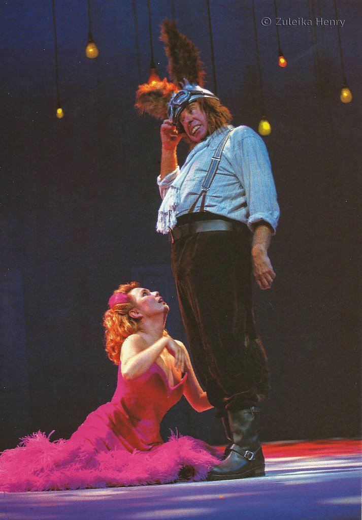Amanda Harris as Titania/ Hippolyta and Christopher Benjamine as Bottom in A Midsummer Night's Dream 1996/7