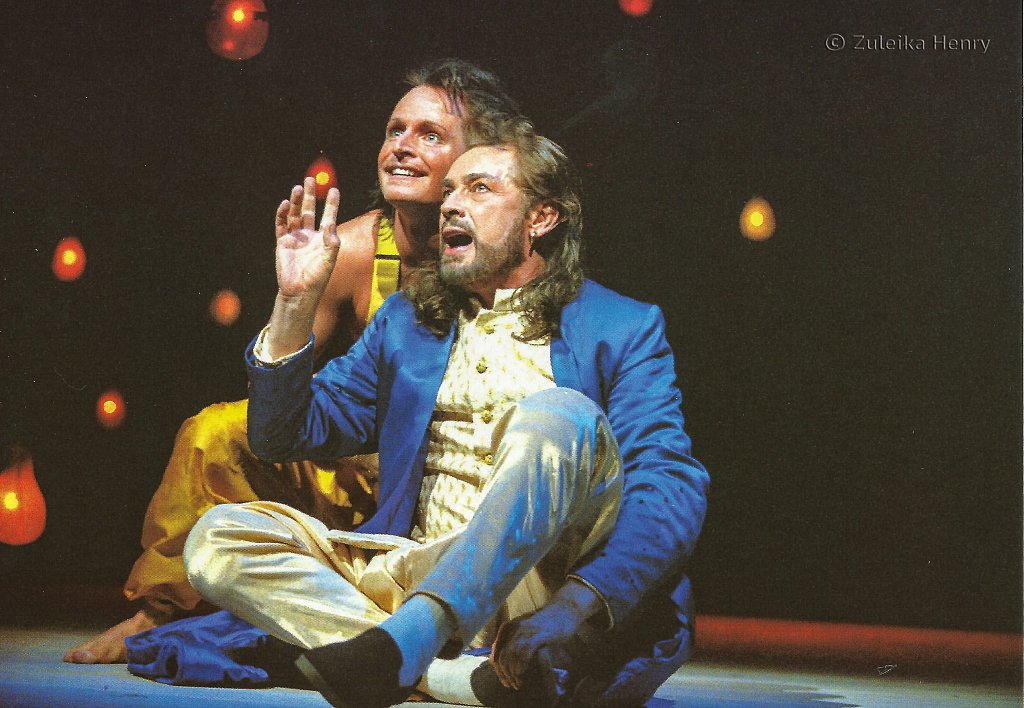 Leigh Lawson as Theus/Oberon  Ian Hughes as Philostrate/Puck in A Midsummer Night's Dream 1996/7