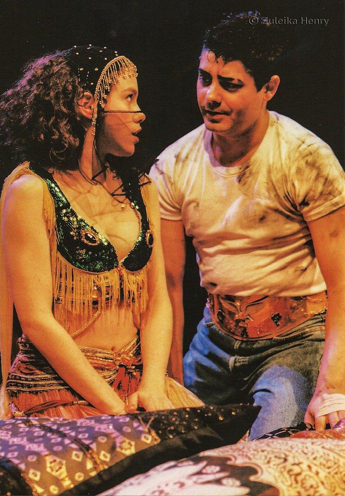Emily Bruni as Esmeralda and Darren D'Silva as Kilroy 'Camino Real' 1997