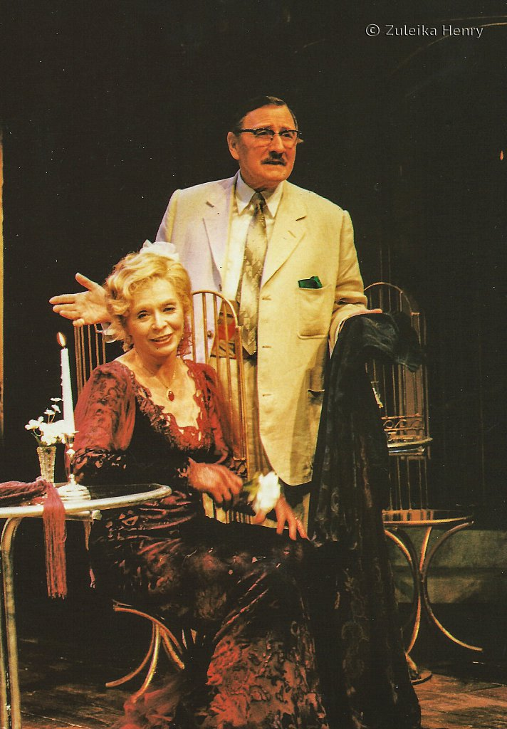 Susannah York as Margeurite and Leslie Phillips as Gulman 'Camino Real' 1997