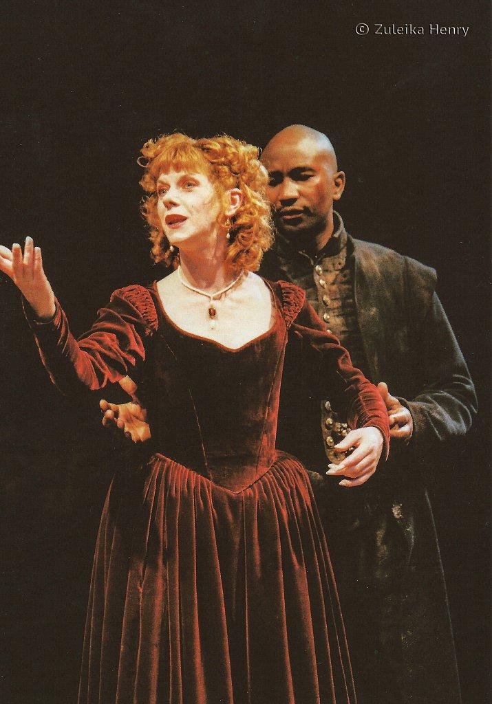 Siobhan Redmond as Bel-Imeria and Patrice Naiambana as Don Andrea 'The Spanish Tragedy' 1997