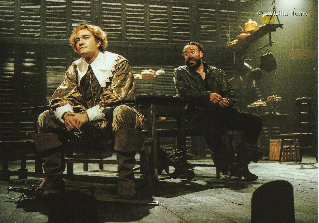 Raymond Coulthard as Christian, Antony Sher as Cyrano 'Cyrano de Bergerac' 1997