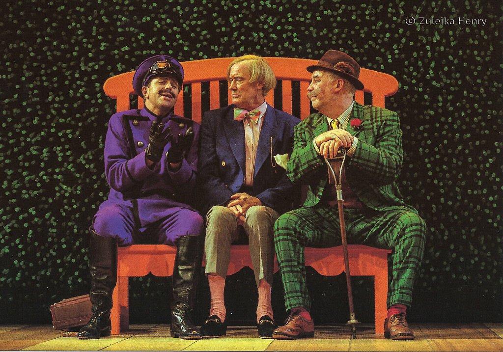Malcolm Scates as Fabian, John Quayle as Sir Andrew Aguecheek, David Calder as Sir Toby Belch 'Twelfth Night' 1997