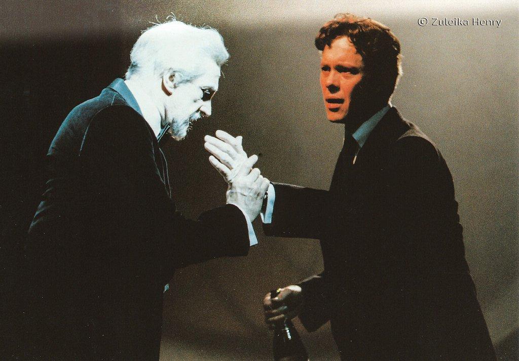 Edward Petherbridge as Ghost of Hamlet's father and  Alex Jennings as Hamlet 'Hamlet' 1997