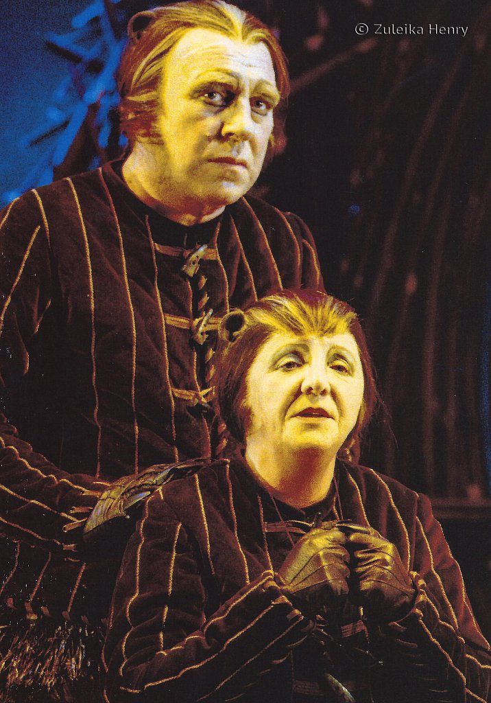 Geoffrey Freshwater as Mr. Beaver and Myra McFadyen as Mrs Beaver 'The Lion, The Witch and The Wardrobe' 1998