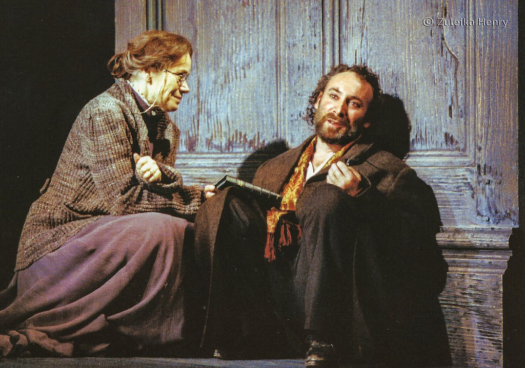 Antony Sher as Leontes and Estelle Kohler as Paulina 'The Winter's Tale' 1999