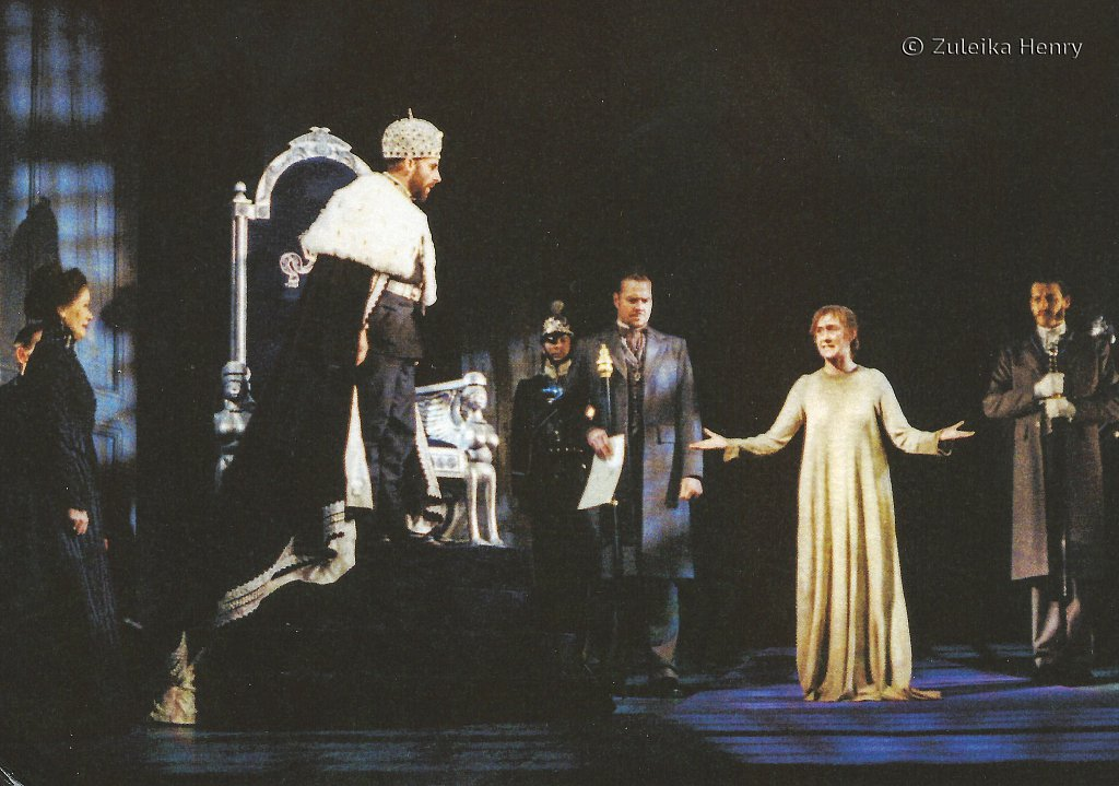 Antony Sher as Leontes and Alexandra Gilbreath as Hermione 'The Winter's Tale' 1999
