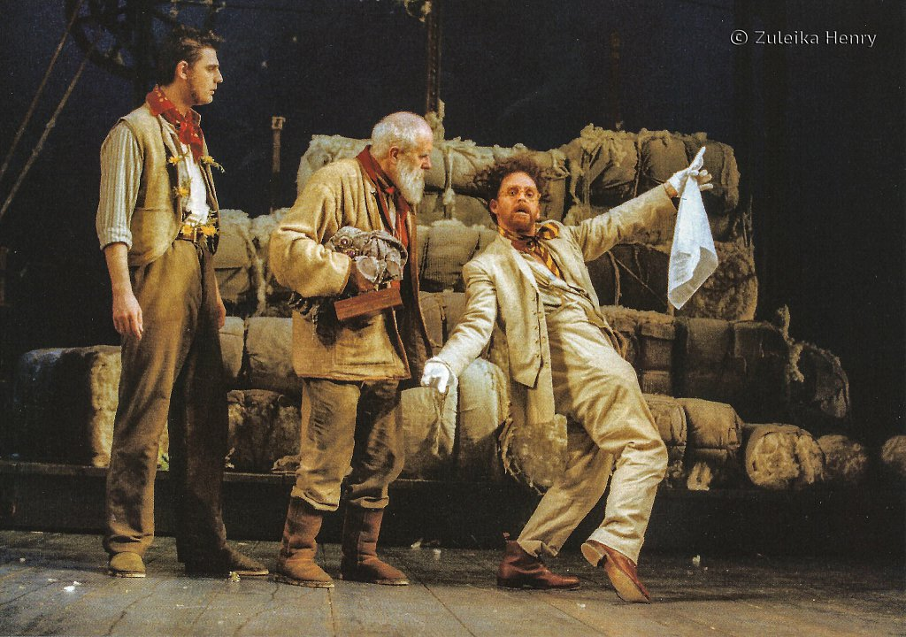 Christopher Bland as Young Shepherd, James Hayes as Old Shepherd and Ian Hughes as Autolycus 'The Winter's Tale' 1999
