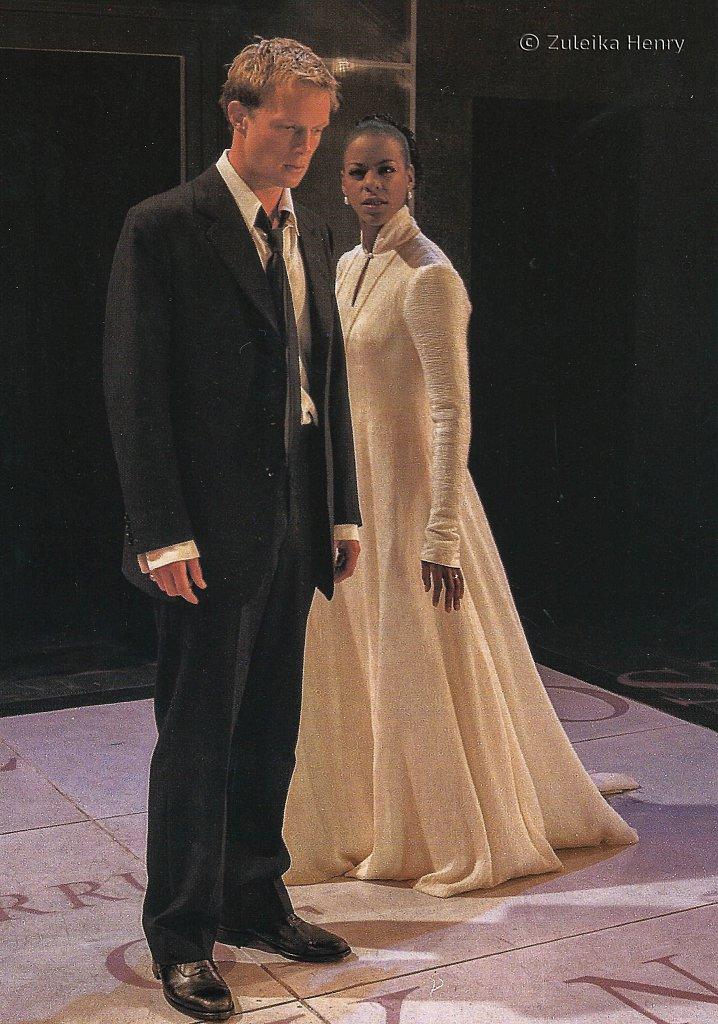 Josette Simon as Elizabeth of Valois, Rupert Penry-Jones as Don Carlos  'Don Carlos' by Friedrich  Schiller 1999