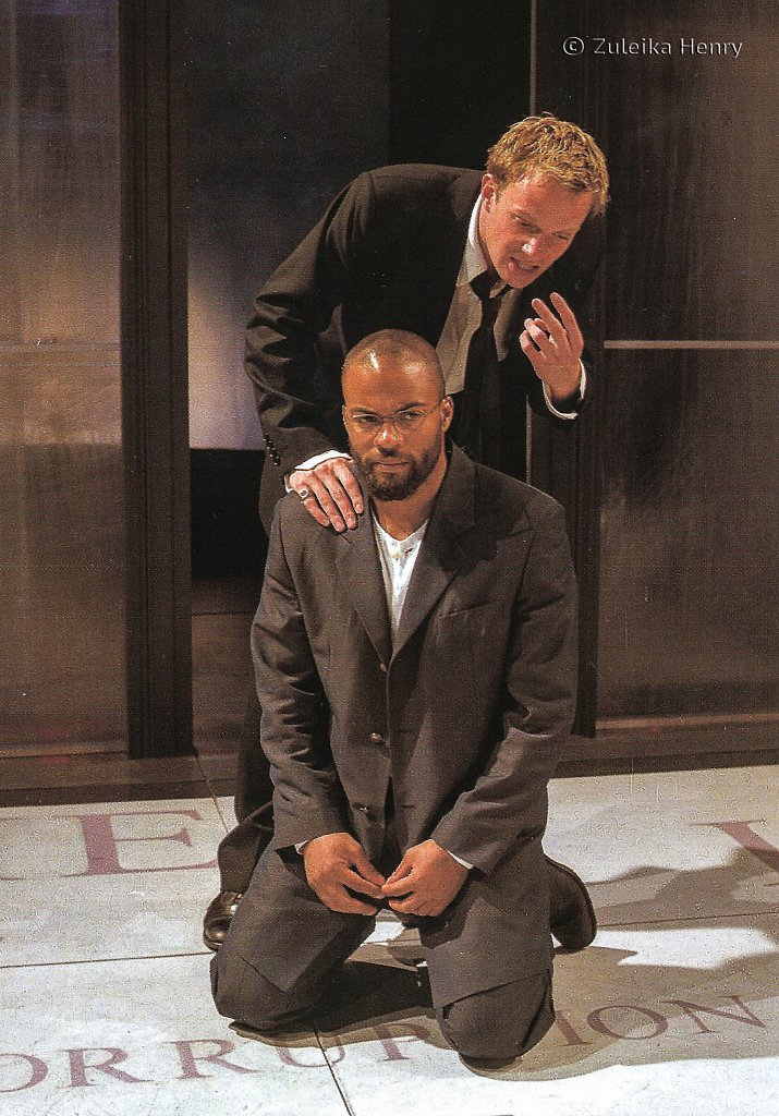 Ray Fearon as Marquis of Posa  Rupert Penry-Jones as Don Carlos  'Don Carlos' by Friedrich  Schiller 1999