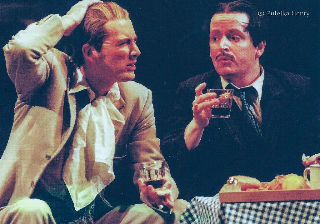 David Tennant as Antipholus of Syracuse  Ian Hughes as Dromio of Ephesus 'The Comedy of Errors' 1999