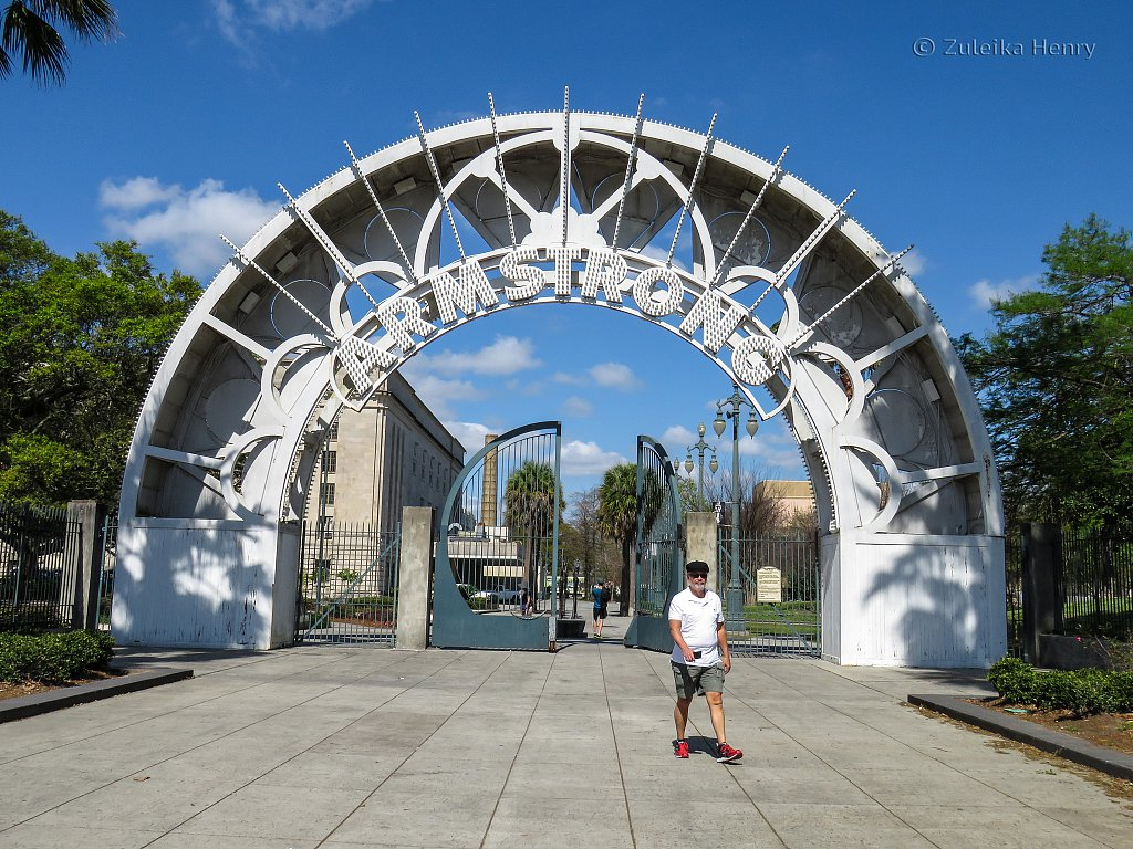 Inside Louis Armstrong Park in Treme