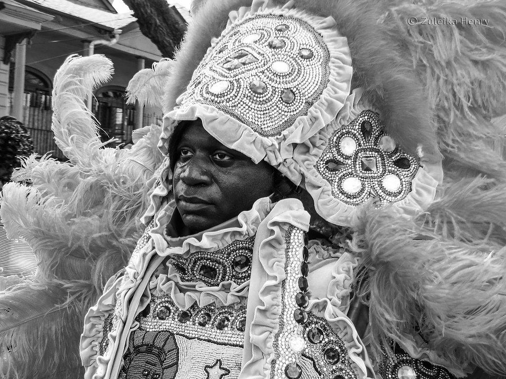 Super Sunday parade of the Mardi Gras Indians