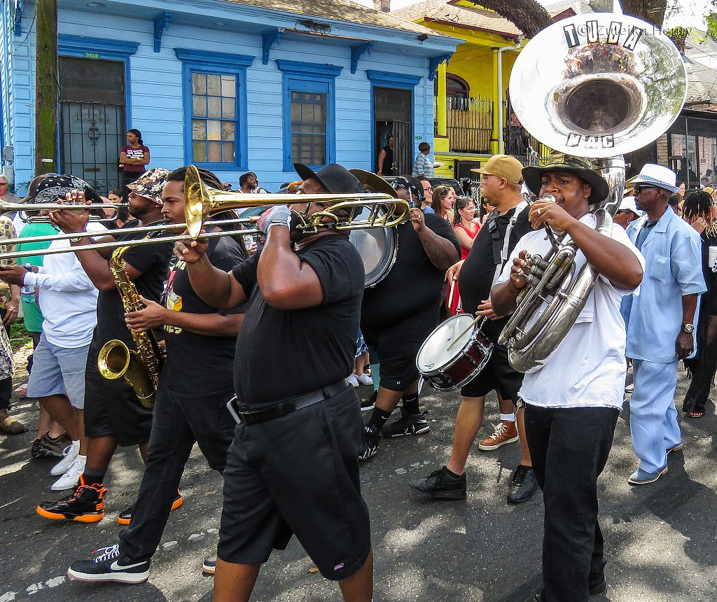 Second line Jazz arching band