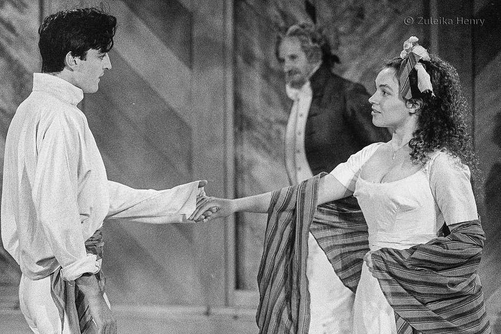 Jacqueline Dankworth as Hero, Paul Rhys as Claudio