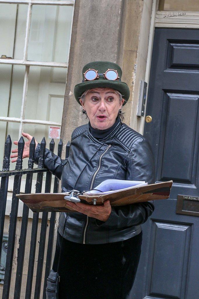 Sheila Hannon presenting 'Frankenstein in Bath' 2018
