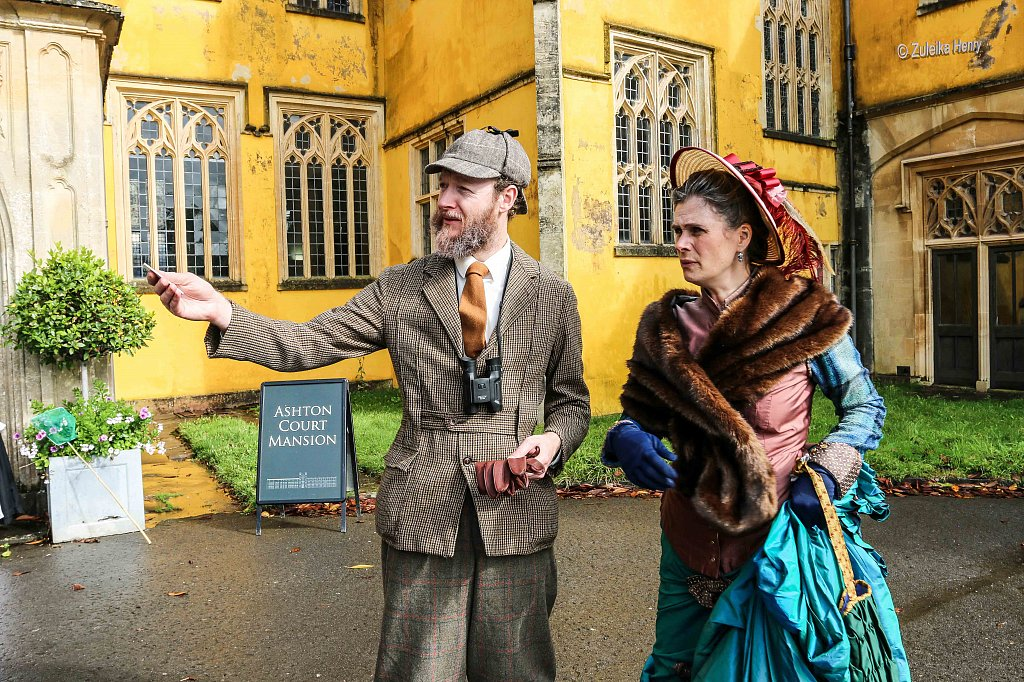 Kirsty Cox and Gerard Cooke as Lady Emily and Sir Greville Smyth