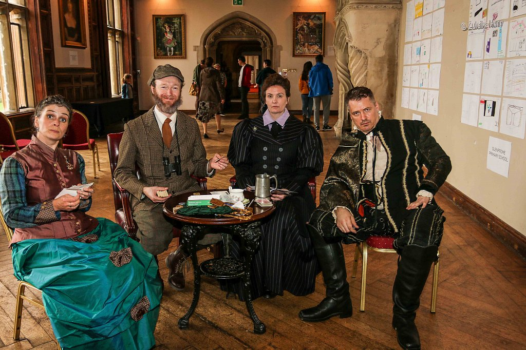 Kirsty Cox and Gerard Cooke as Lady Emily and Sir Greville Smyth  John Lomas as Hugh Smyth Rachael Fagan as Esme