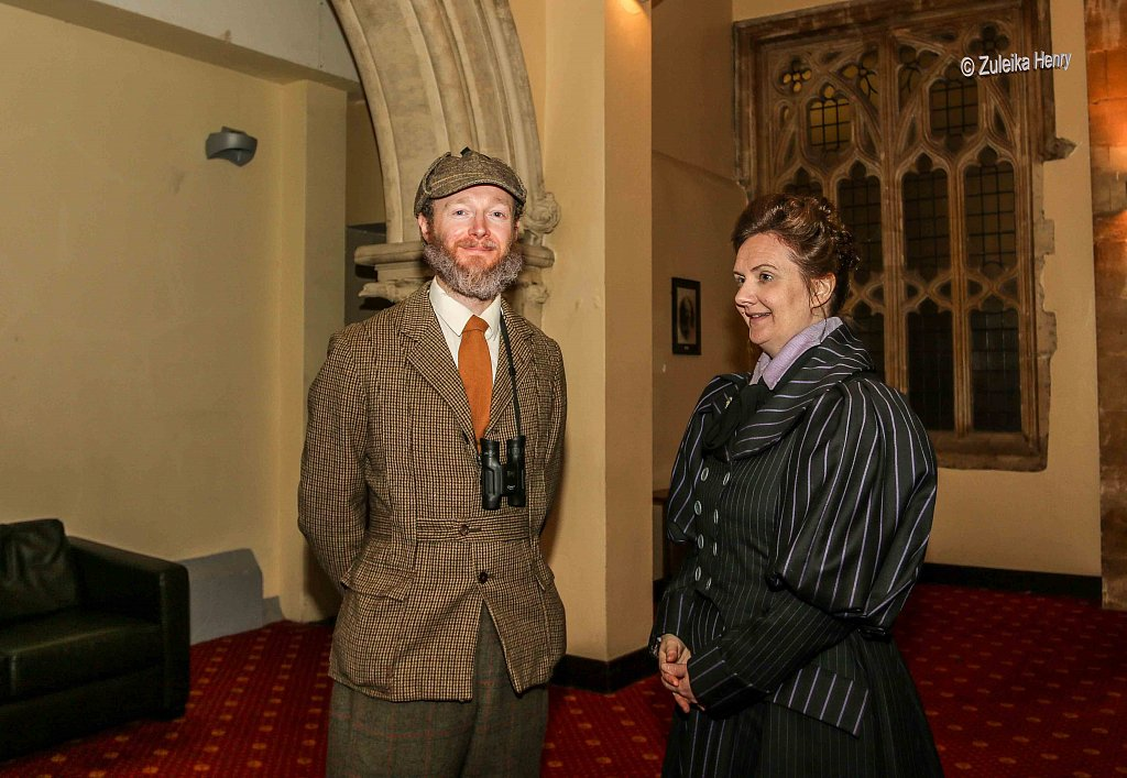 Rachael Fagan as Esme Smyth and Gerard Cooke as Sir Greville