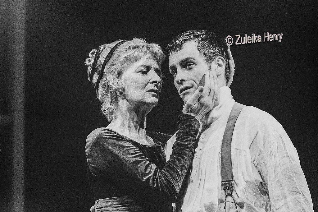 Toby Stephens as Coriolanus and Caroline Blakiston as Volumia